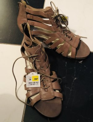 Fifth Avenue High-Heeled Sandals grey brown-light brown