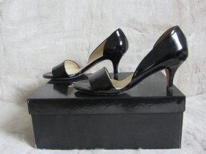 Evita Escarpins à bout ouvert noir cuir