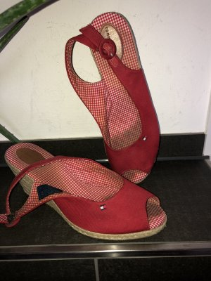 Tommy Hilfiger Platform High-Heeled Sandal white-red