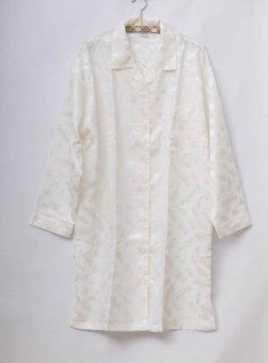 Damen Satin Nachthemd in cremeweiß, Schlafshirt, Nachtgewand, TOP
