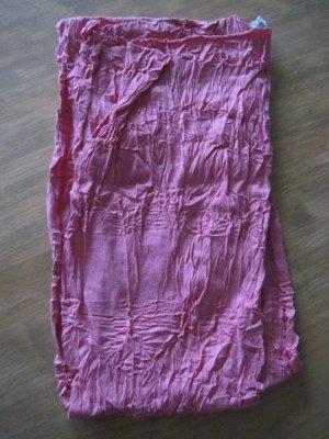Damen Schal / Damenschal Knitteroptik, rosa