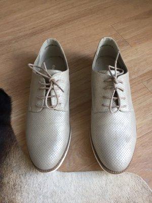 Damen Schnürschuh in beige - Größe 38 - NEU