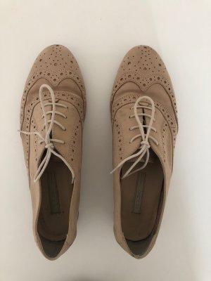 Damen Schnürschuhe von Cox Gr.39 beige Echtleder