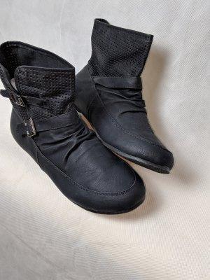 Muse Bottines plissées noir