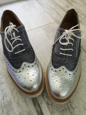 Varese Wingtip Shoes silver-colored-slate-gray