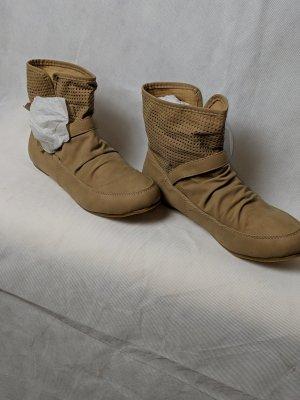 Muse Bottines plissées kaki
