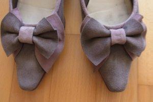 Damen Schuhe / Ballerinas von Gabriele / Wildleder Farbe taupe rose in Gr. 38,5