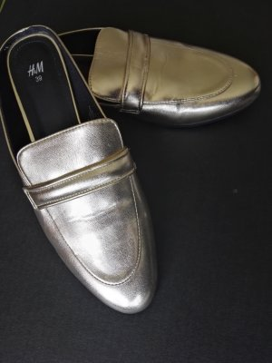 H&M Slip-on Shoes gold-colored