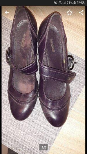 Graceland High-Heeled Sandals brown violet