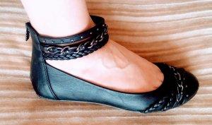 Damen Schuhe Knöchel Ballerina Gr.39 in Schwarz von Graceland