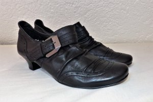 Damen Schuhe NEU echt Leder 39 Lederschuhe Halbschuhe Pumps schwarz Bellissima