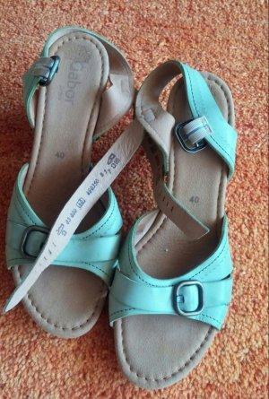 Damen Schuhe Sandalen Gr.40 in Frühlingsgrün von Gabor NW