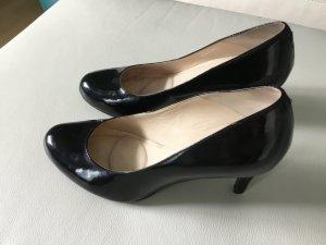 Damen Schuhe, schwarzer Lackleder, Marke Clarks, 37, Dämpfer