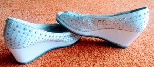 Damen Schuhe Sommer Pumps Gr.38 in Woll-Weiß von Graceland