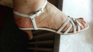 Damen Schuhe Sommer Riemchensandalen Gr.38 in Weiß von Esprit NW