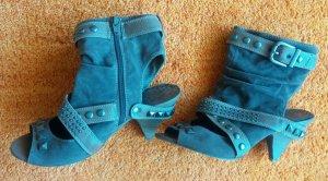 Damen Schuhe Wild Leder Imitat Gr.39 in Karamel/Braun von Graceland