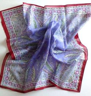 Damen Schultertuch quadratisch Polyester Lila Weinrot