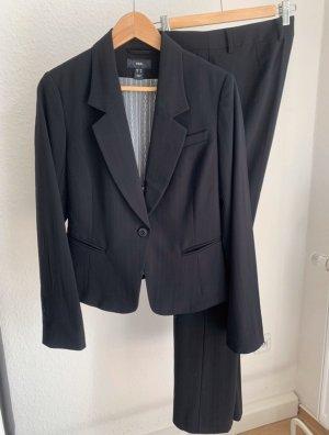 H&M Tailleur pantalone nero-grigio