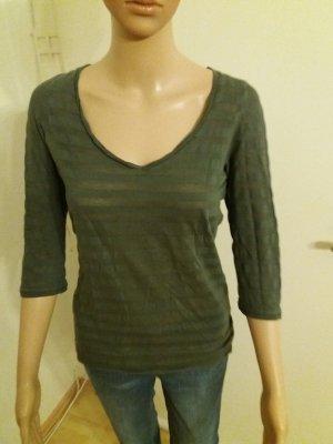 Damen Shirt 3/4 Arm grau gestreift von OASIS