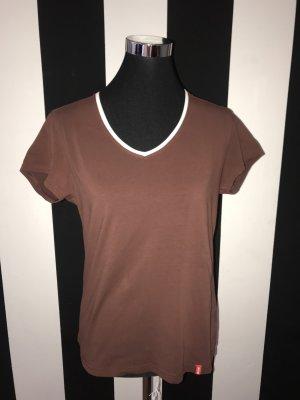 Camisa marrón oscuro-gris claro