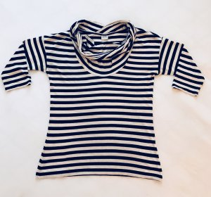 Damen Shirt, Esprit, Schwarz Weiß Gestreift, Gr. S / Gr. 36