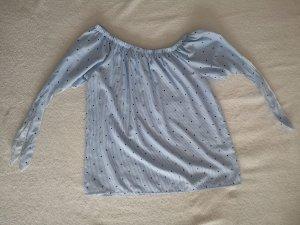 Hailys Carmen blouse lichtblauw