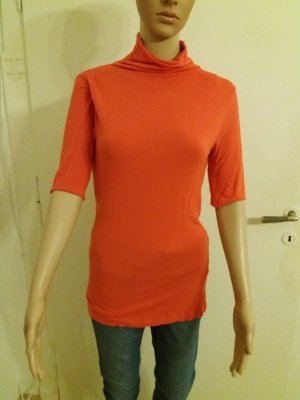Damen Shirt in hellem rot von VERO MODA mit Knöpfen am Rücken