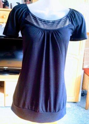 Damen Shirt Jersey Glitzer Verzehr Gr.36 in Schwarz Blind Date