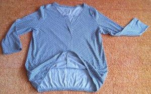 Boothalsshirt zwart-wolwit Katoen