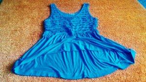 Damen Shirt Jersey Träger Top Gr.38 in Türkis von IX-O