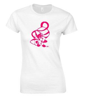 """Damen-Shirt """"Kitty"""", weiß, von Gildan, NEU"""