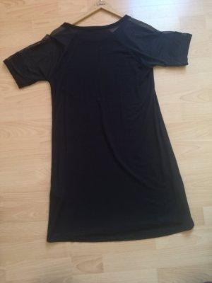 Amisu Vestido de tela de sudadera negro