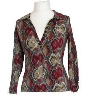 Damen Shirt, kurzärmlig, flexi, Schlangenmuster, Gr. S