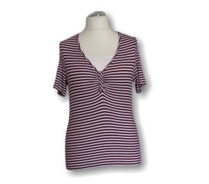 Camisa de rayas blanco-rojo