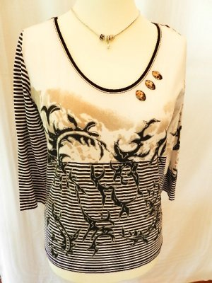 Damen Shirt mit 3 Strasssteinen - Gr. 40 - einwandfrei