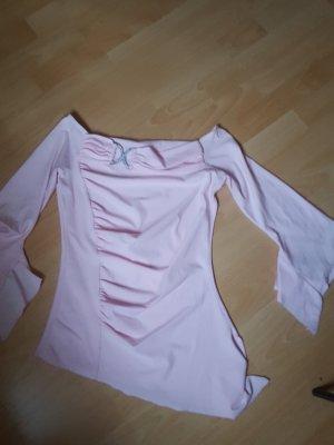 Camisa tipo Carmen rosa claro