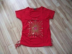 Damen Shirt, Rot, Pompöös, Gr.46, (45-BHB)