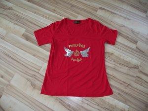 Damen Shirt, Rot, Pompöös, Gr.46, (46-BHB)