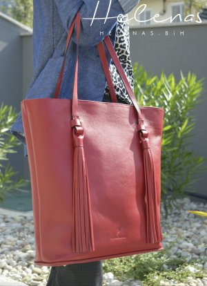 Carry Bag dark red leather