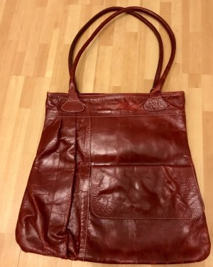 Damen Shopper (rot) Leder