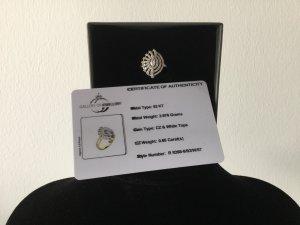 Damen Silber-Ring  mit Glaskristallen von Gallery of Jewellery Gr.57
