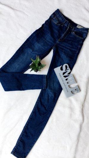 Damen skinny Jeans highwaist blau