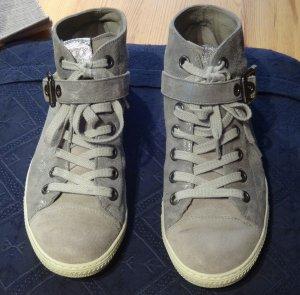 Damen Sneaker Gr. 39 von Paul Green in beige mit Glitzer