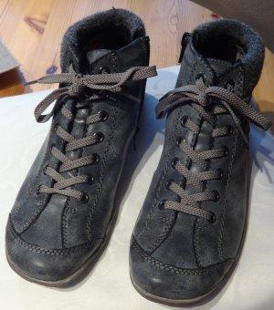 Damen Sneaker Gr. 39 von Rieker in blaugrau leicht gefüttert