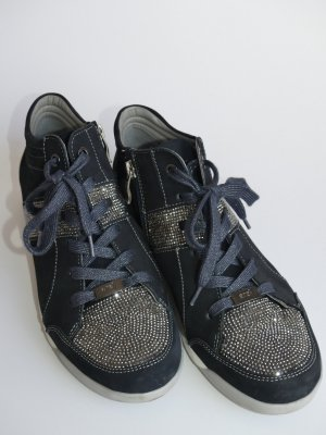 ara Lace-Up Sneaker dark blue leather
