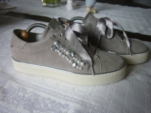 100 Shoes silver-colored