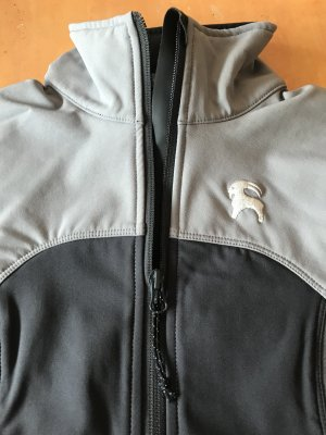 Chaqueta softshell negro-gris