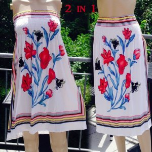 Beach Dress multicolored polyester