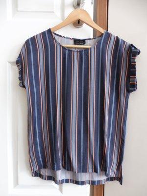 Damen Sommer Gestreiftes Fledermausärmel T-Shirt