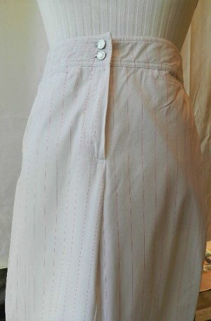 Linen Pants white-raspberry-red cotton
